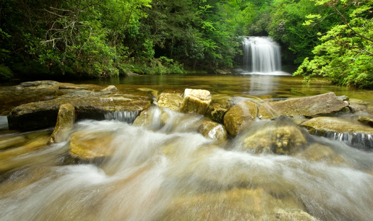 waterfall hikes in pigeon forge