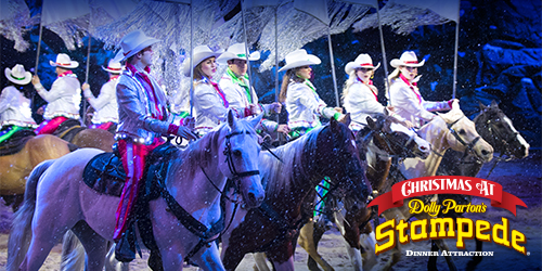 Ad - Christmas At Dolly Parton's Stampede: Click to visit website