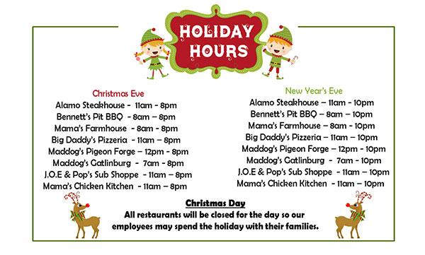restaurants open on christmas