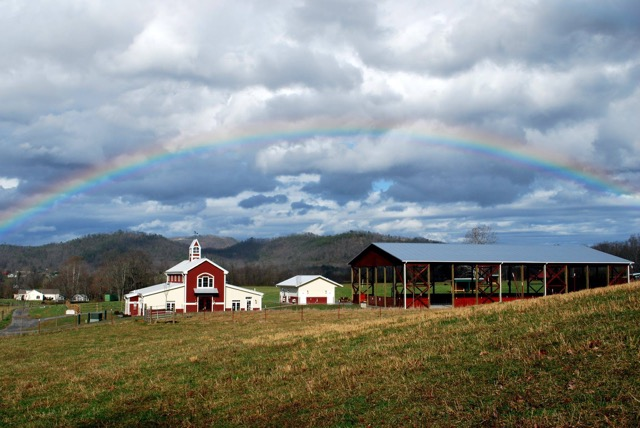 Ranch with Rainbow