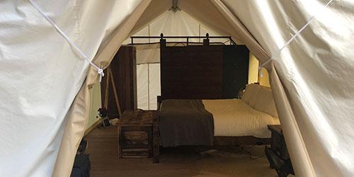 luxury camping
