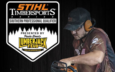 STIHL Timbersports Series at Paula Deen's Lumberjack Feud Show: Click for event info.