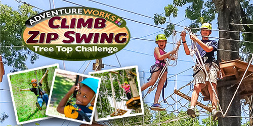 Ad - Adventureworks Climb Zip Swing: Click to visit website