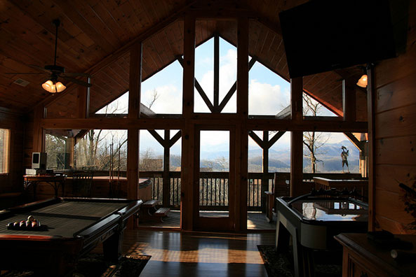 pigeon forge cabin rentals with mountain views