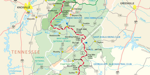 Hiking In The Smoky Mountains | Pigeon Forge & Smoky ... on hiking lake tahoe map, hiking appalachian trail map, hiking cades cove map,
