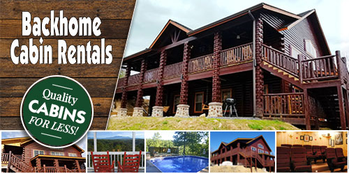 Ad - Backhome Cabin Rentals: Click for website