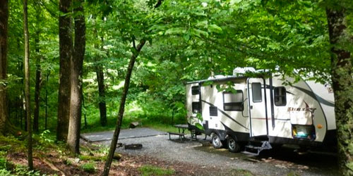 Reserve Balsam Mountain Campground: Click to visit page.