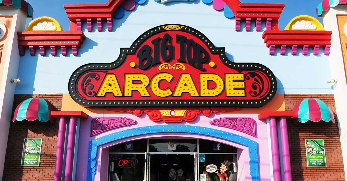 Big Top Arcade Best Pigeon Forge Arcade On The Parkway