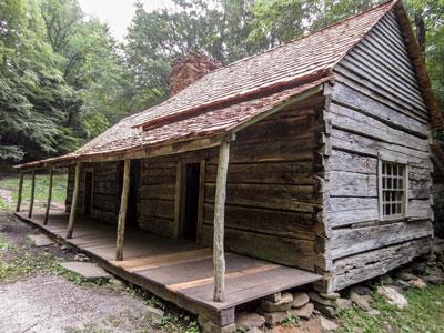 View of Noah Bud Ogle Cabin