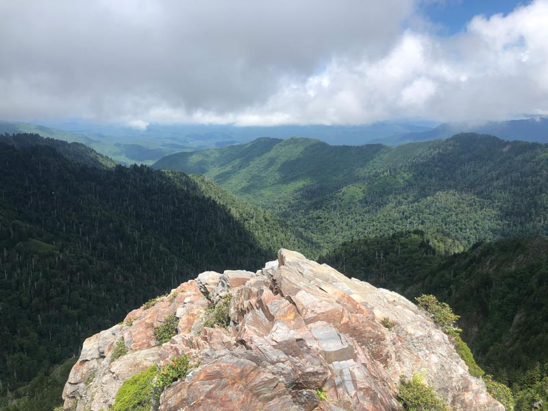 View from the top of the rocks
