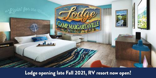 Ad - Camp Margaritaville Lodge: Click for website
