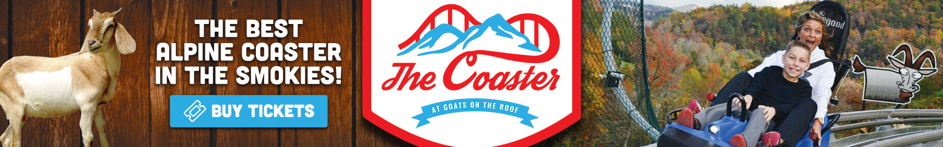 Ad - The Coaster At Goats On The Roof: Click to buy tickets.