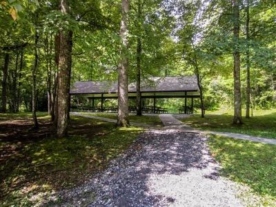 View of Collins Creek Picnic Pavilion
