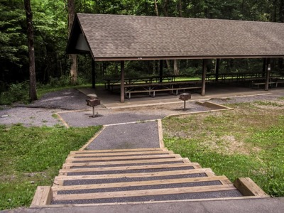 View of Cosby Picnic Pavilion
