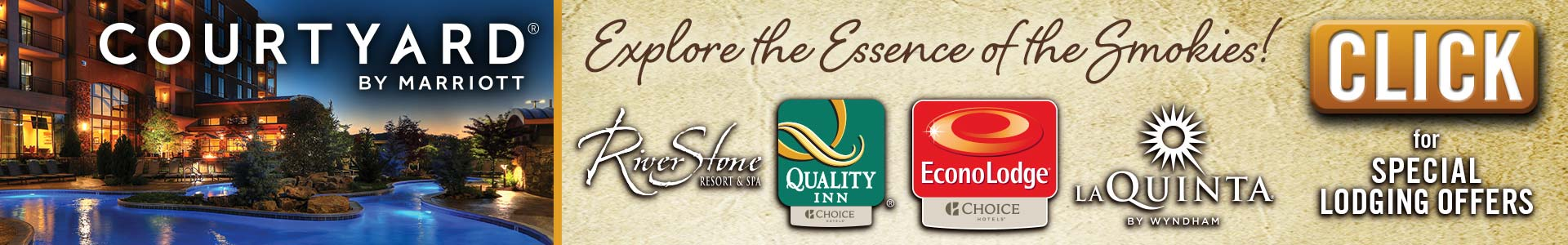 Ad - Courtyard by Marriott: Explore the essence of the Smokies. Click for special lodging offers.