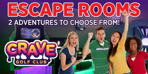 Ad - Escape Rooms At Crave Golf Club: Click to visit website