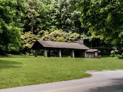 View of Deep Creek Picnic Pavilion