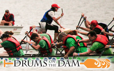 Drums On The Dam Dragon Boat Race