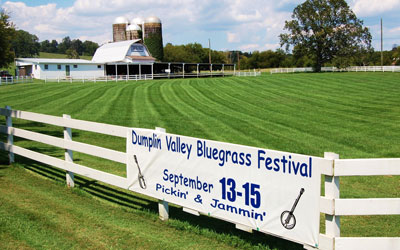18th Annual Dumplin Valley Bluegrass Festival: Click for event info.