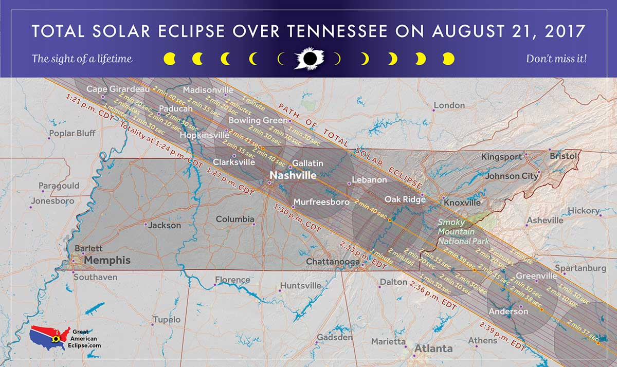 tennessee eclipse map