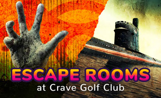 New Immersive Escape Rooms Open At Crave Golf Club: Click to read more.