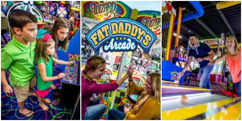 Ad - Fat Daddy's Arcade: Click to visit website