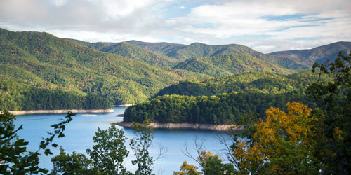 view of Fontana Lake