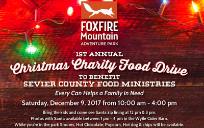 Foxfire Mountain Christmas Charity Food Drive: Click for event info.