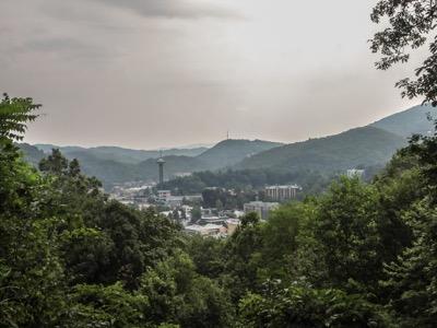 View of Gatlinburg Overlook Parking Area #2