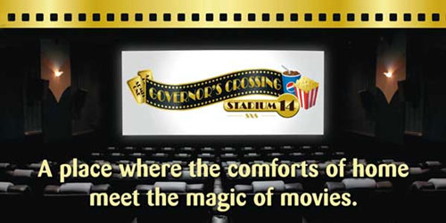 Ad - Governor's Crossing Stadium 14 Movie Theater: Click to visit website