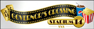 Governor's Crossing Stadium 14 Movie Theater logo