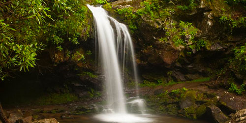 Trillium Gap Trail to Grotto Falls: Click to visit page.