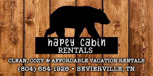 Ad - Hapey Cabin Rentals: Click for website