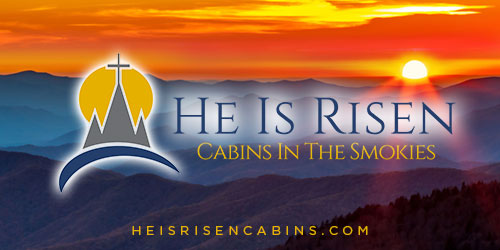 Ad - He Is Risen Cabins: Click for website