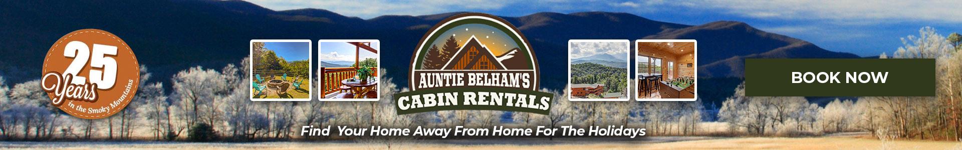Ad - Auntie Belham's Cabin Rentals