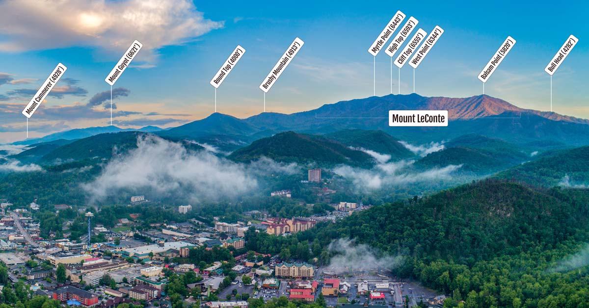 Mt. LeConte: The Gatlinburg Massif: Click to read more.