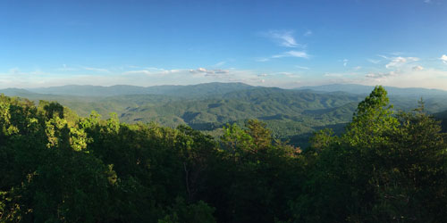 Panoramic view east & south from the Look Rock Observation Tower by Famartin