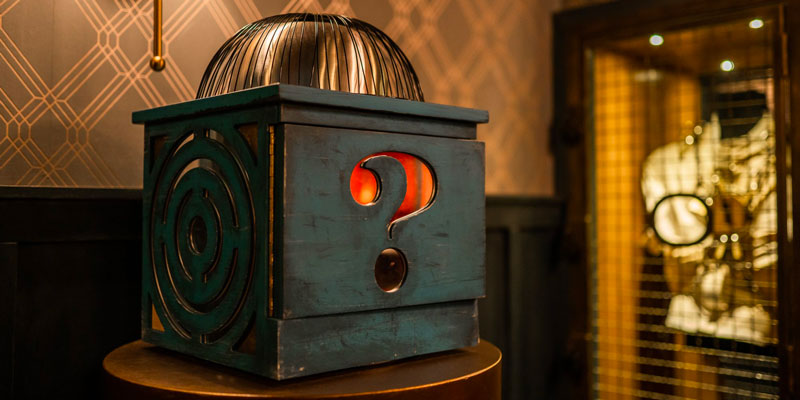Magic box with question mark