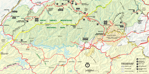 Great Smoky Mountains Maps: Click to visit page.