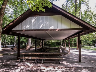 View of Metcalf Bottoms Picnic Pavilion