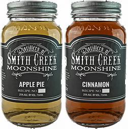 Two jars of Smith Creek Moonshine