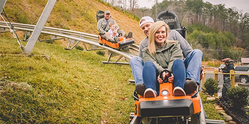 Mountain Coasters in the Smokies: Click to visit page.