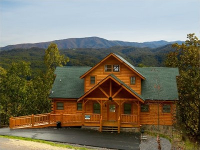 Mountain escape for Moose creek cabins pigeon forge tn