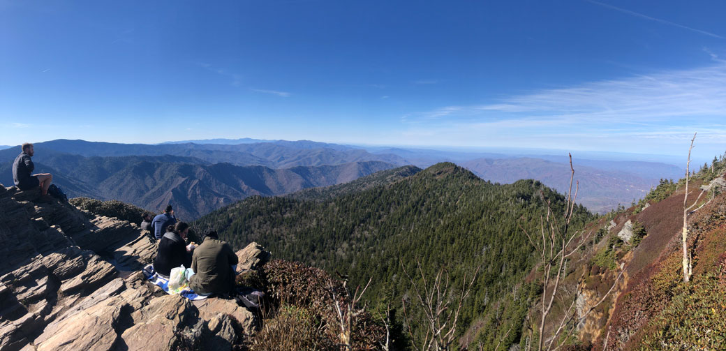Views from the summit of Mount LeConte (November 14, 2020)