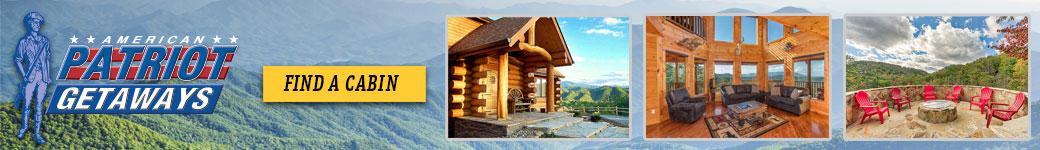 Ad - American Patriot Getaways: Click to find a cabin.