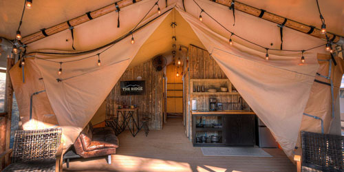Glamping At The Ridge: Click to visit page.