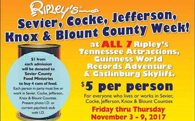 Ripley's Sevier County Days: Click for event info.