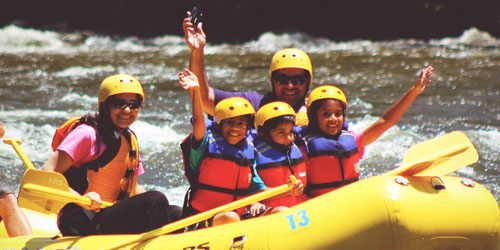 kid friendly rafting pigeon forge