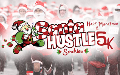 Santa Hustle Smokies 5k & Half Marathon: Click for event info.
