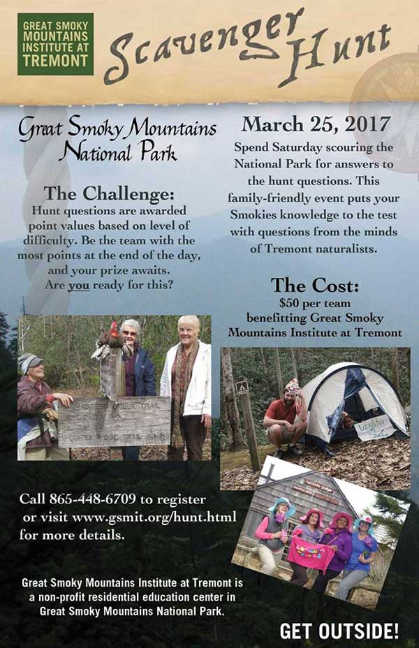 smoky mountains scavenger hunt